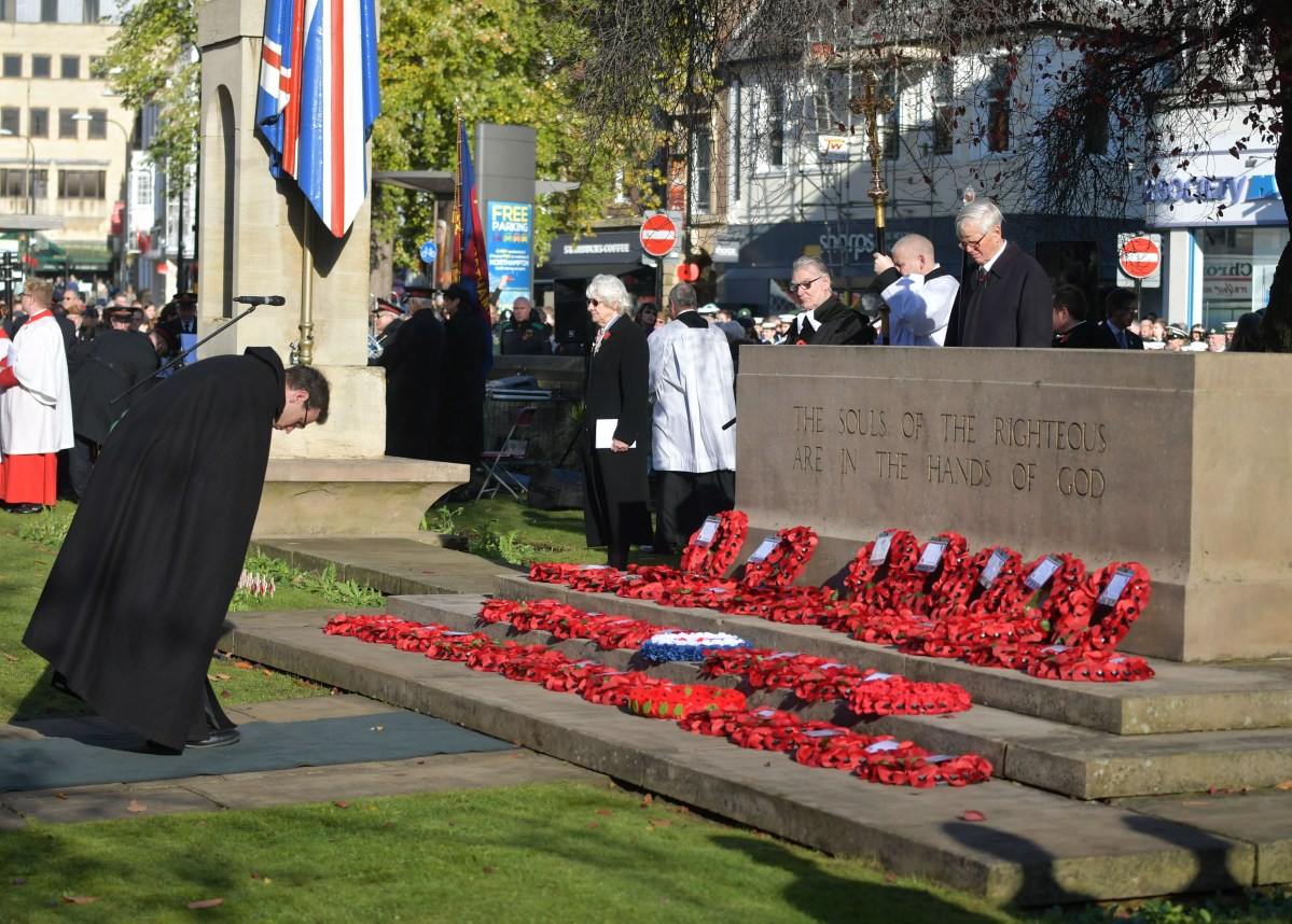 Pictures from Remembrance Sunday in Northampton